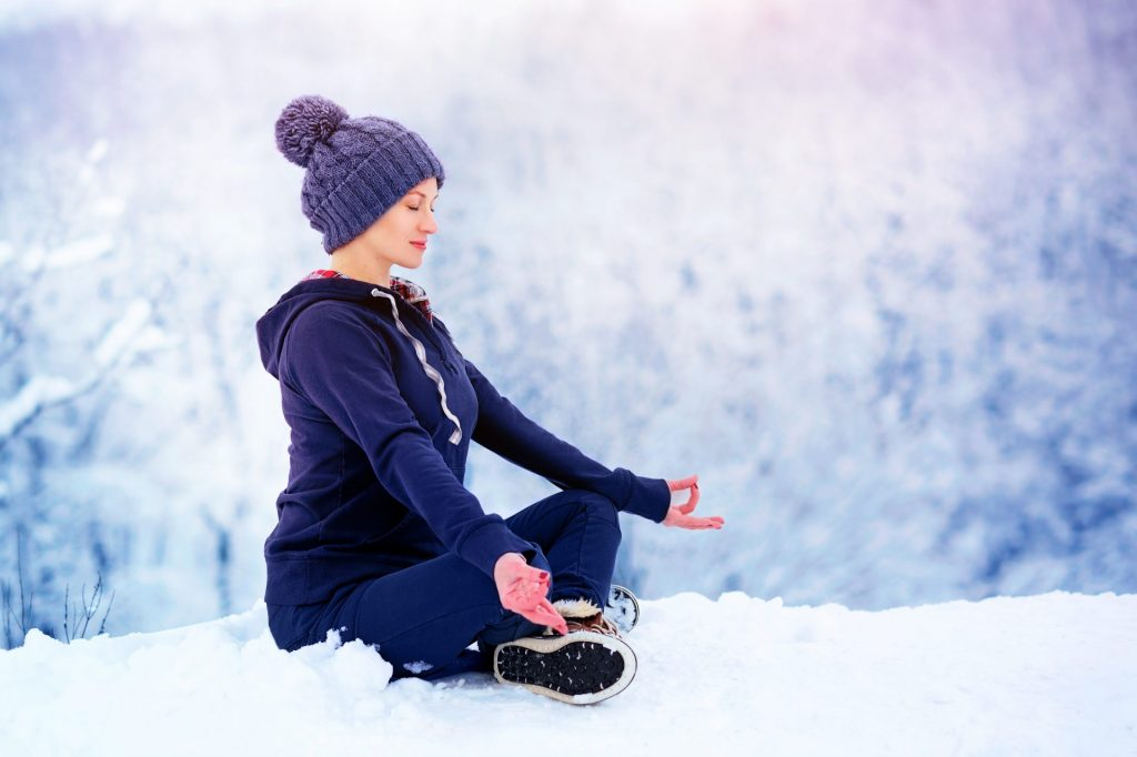 Exercices de relaxation hivernale